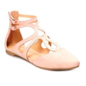 LC Lauren Conrad Macaroon 8 Blush Pink Flats